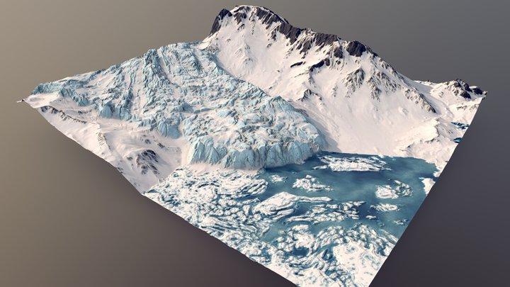 Glacier Ridgelines 3D Model