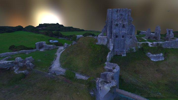 Corfe Castle 3D Model