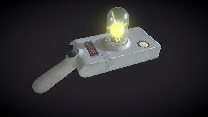 Rick and Morty portal gun. 3D Model