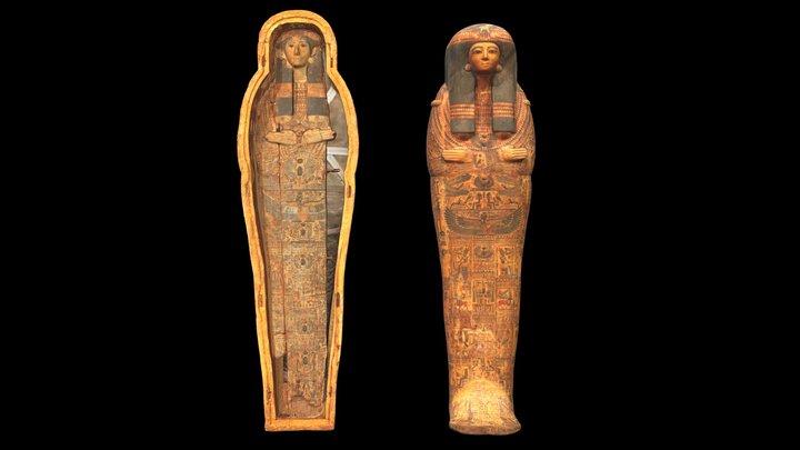 Coffin of the Lady Tanakhtnettahat 3D Model