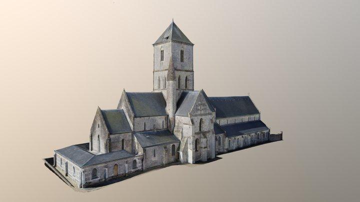 Eglise Etretat 3D Model