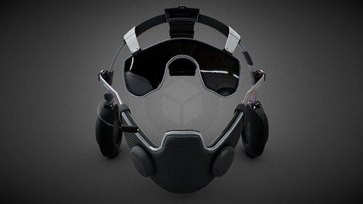 Hybrid - Mask - Headphones 3 in 1 3D Model