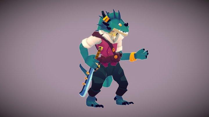Pirate Lizard 3D Model