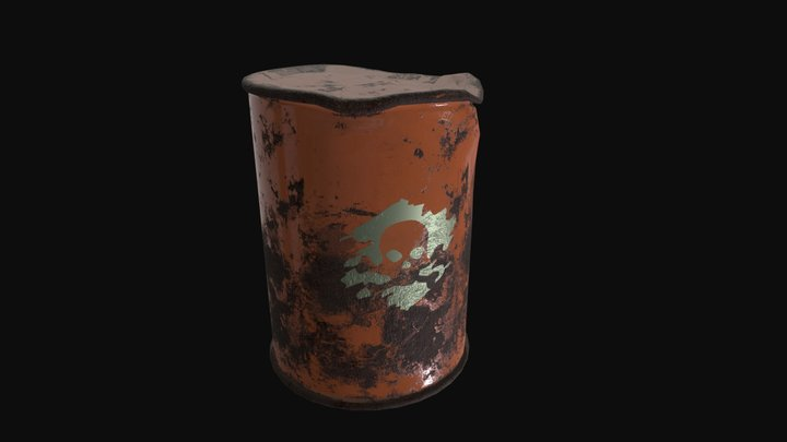 Rusted Barrel 3D Model