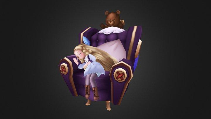 Sleeping Girl (잠자는 소녀) 3D Model