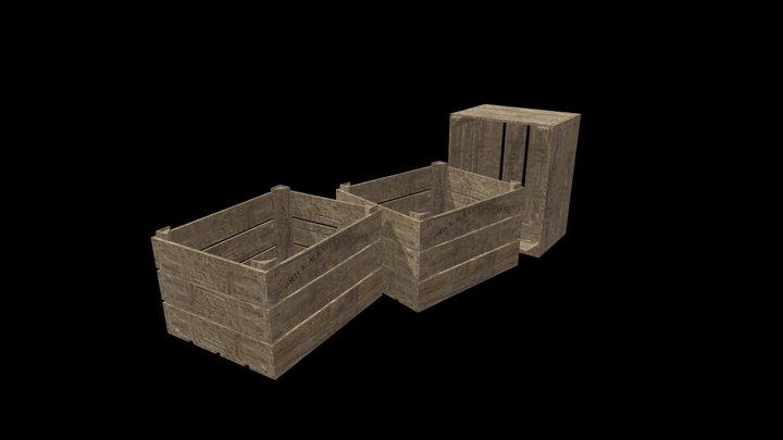 Wooden Crate 3D Model