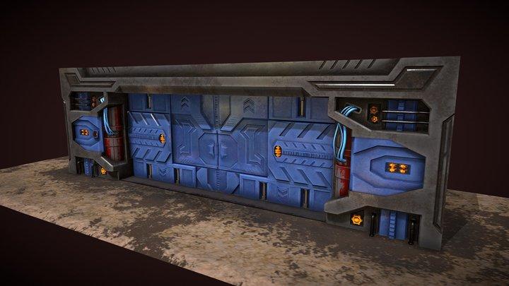 Sci Fi Door/Gate - Environment asset 3D Model