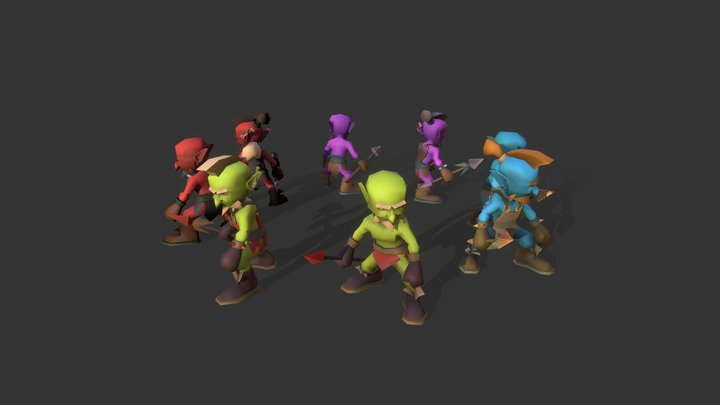 TD_Creature_pack_ Goblin 3D Model