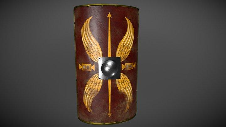 Scutum/Roman legionary shield 3D Model