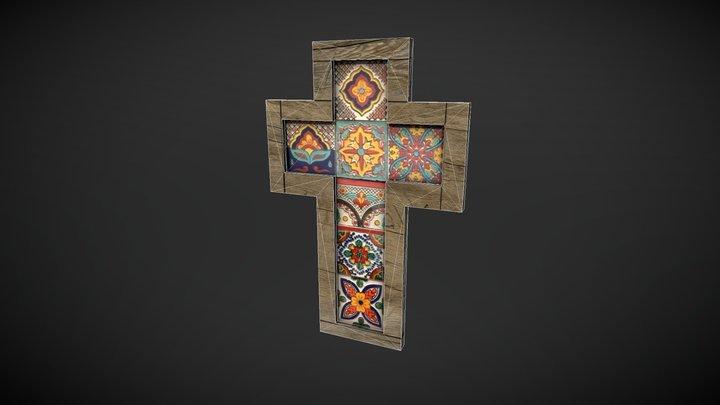 Christian Cross Low Poly 3D Model