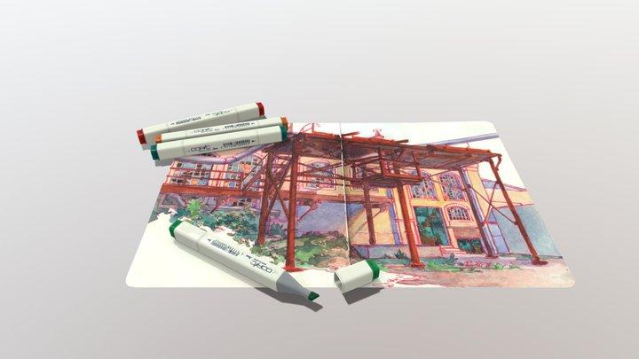 XYZ School Homework 9 - Simple Asset(Full Cycle) 3D Model
