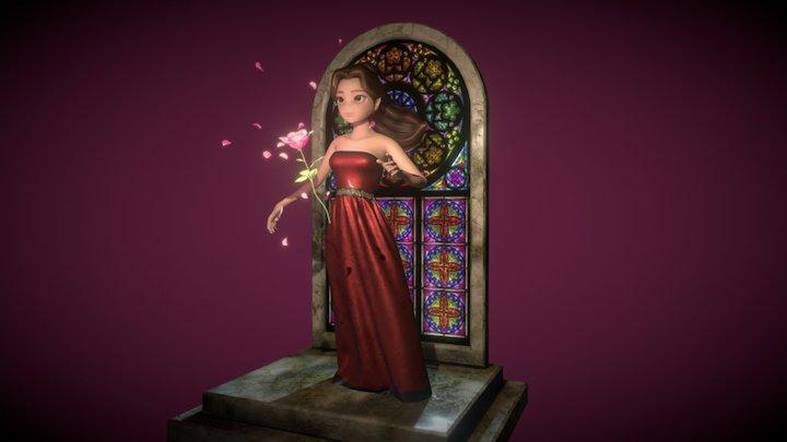 Belle and magic rose 3D Model