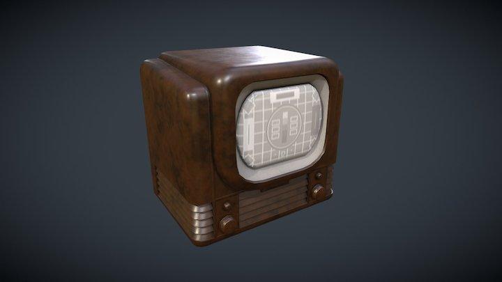 Classic Vintage TV 3D Model