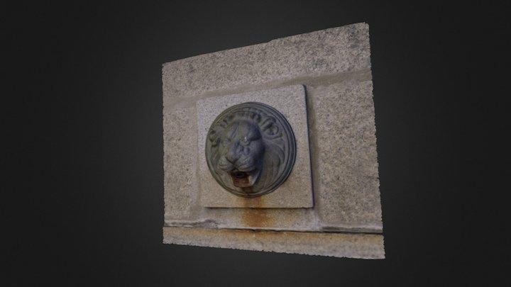 Fuente con león 3D Model