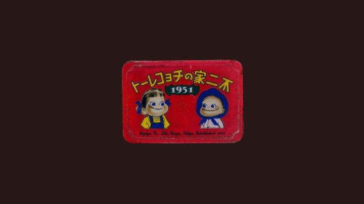 Vintage Japanese Fujiya Chocolate Tin box 3D Model