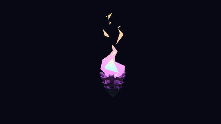 Promare fire 3D 3D Model