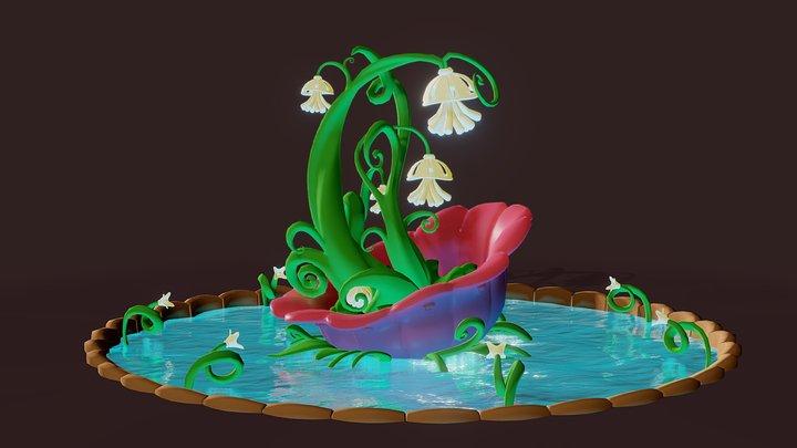 Fontain Plant 3D Model
