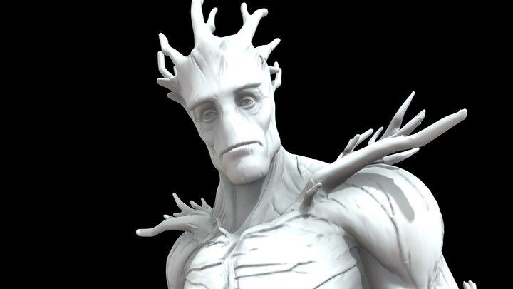 Groot STL 3D Model