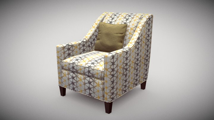 Furniture Chair Side Accent 3D Model