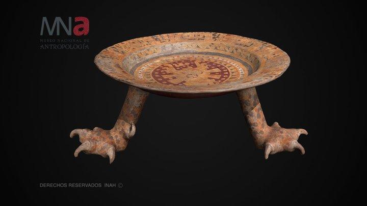Plato ceremonial de Zaachila, Oax. 3D Model