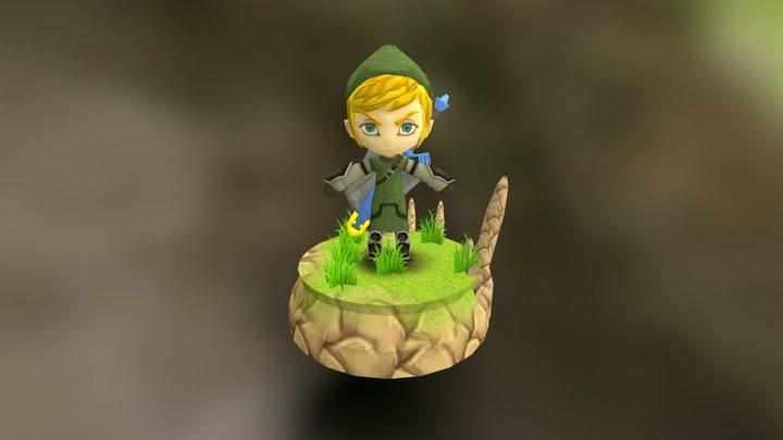 """A Lenda de Zelda (""""Linque """") 3D Model"""