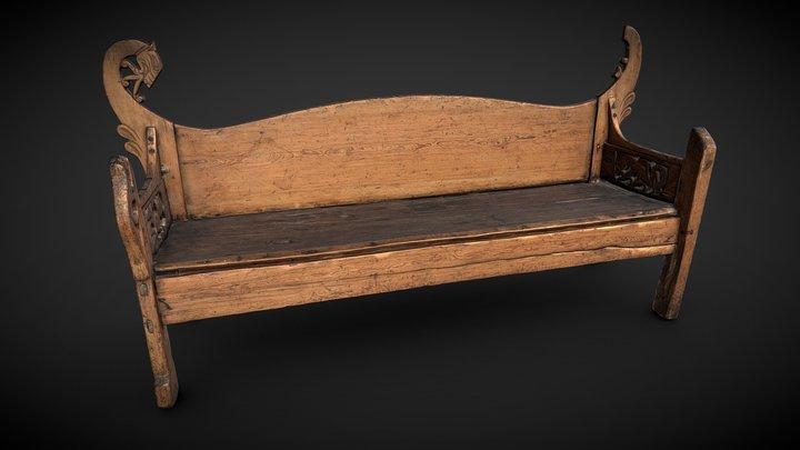 The Kungsåra Bench 3D Model