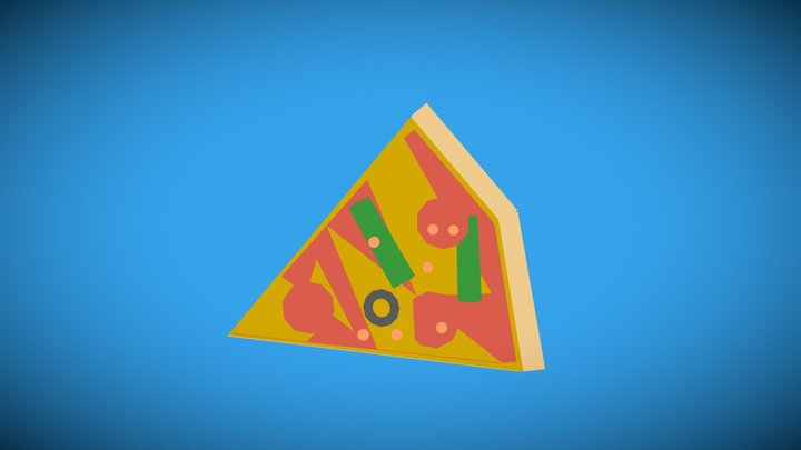 Pizza One Slice 3D Model