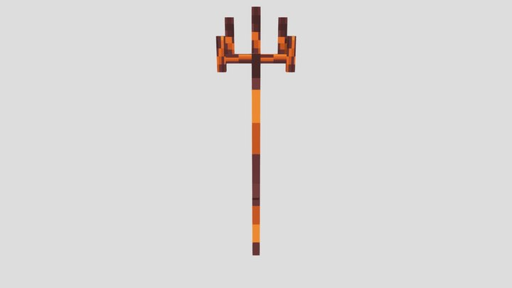 Magma Trident Minecraft 3D Model