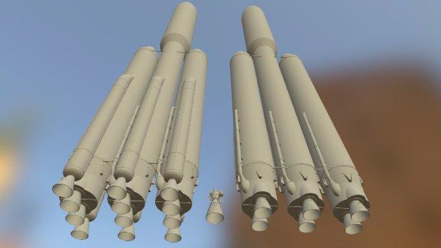 WIP - Atlas V HLV & SHLV - Untextured 3D Model