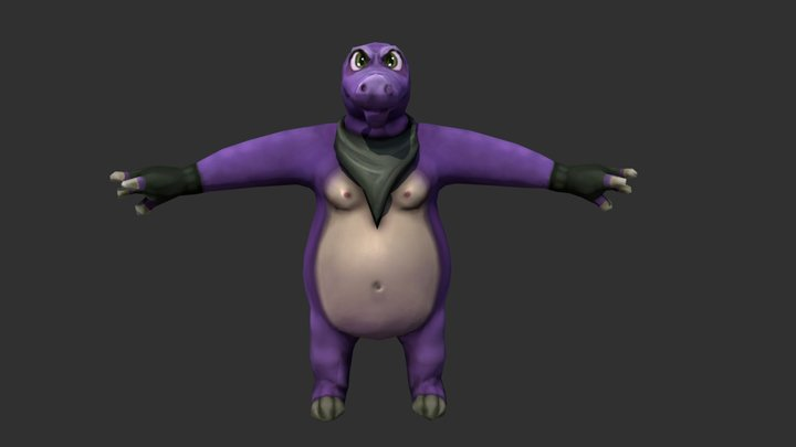 Croc 3D Model