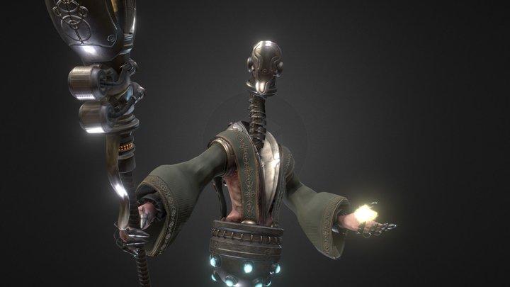 Cyborg Priest 3D Model