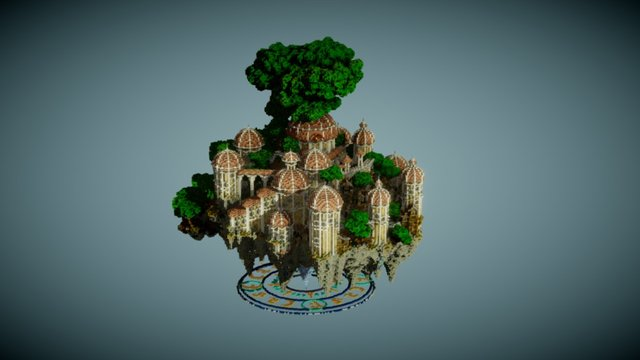 Castle in the Sky 3D Model