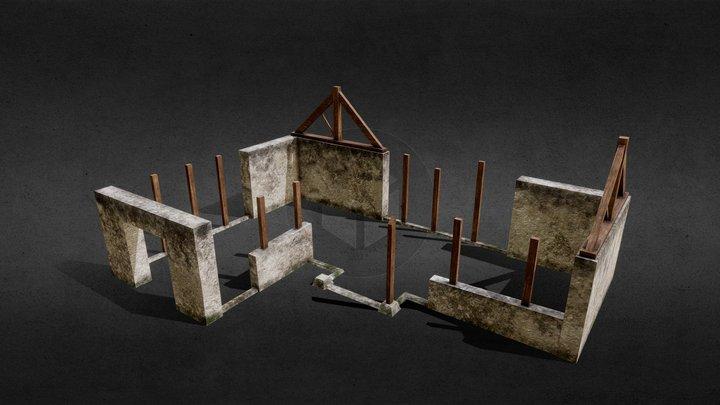 Desroyed House 3D Model