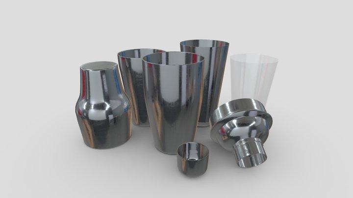 Cocktail Shaker Open Pack 3D Model