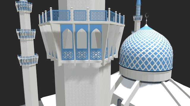 Shah Alam, Blue Mosque 3D Model