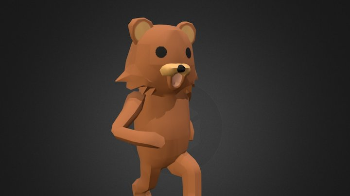 Pedobear Animated 3D Model