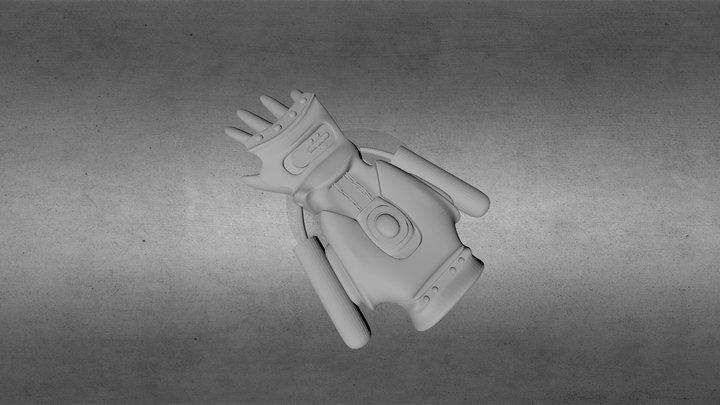 Steampunk-Handschuh 3D Model