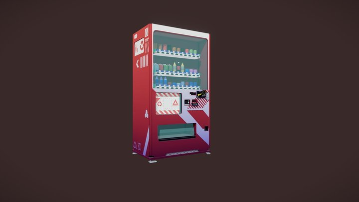 [Stylized] Vending machine 3D Model