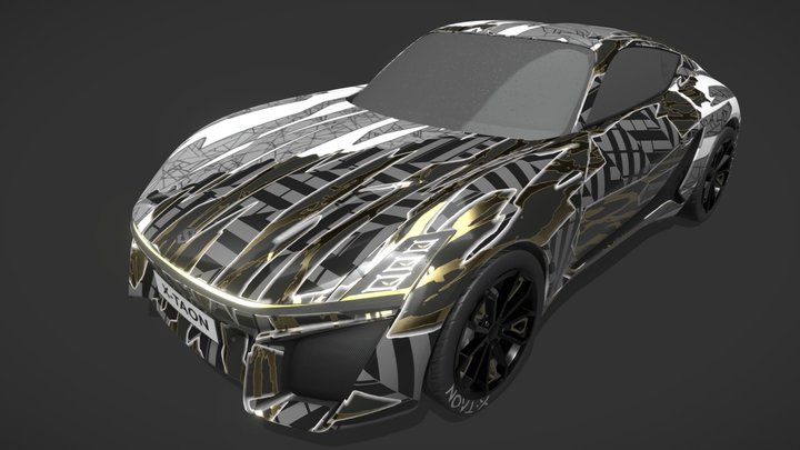 GOLD DAZZLE X-TAON ARTCAR CONTEST 3D Model