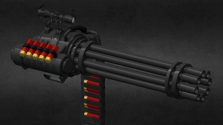 Gatling Shotty v1.0 3D Model