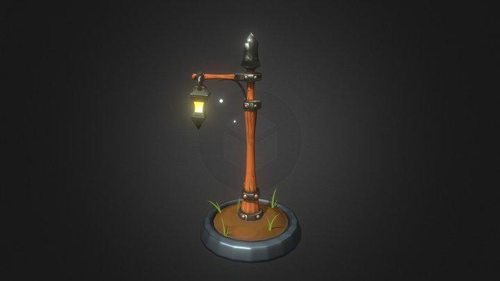 Lonely lamp post 3D Model