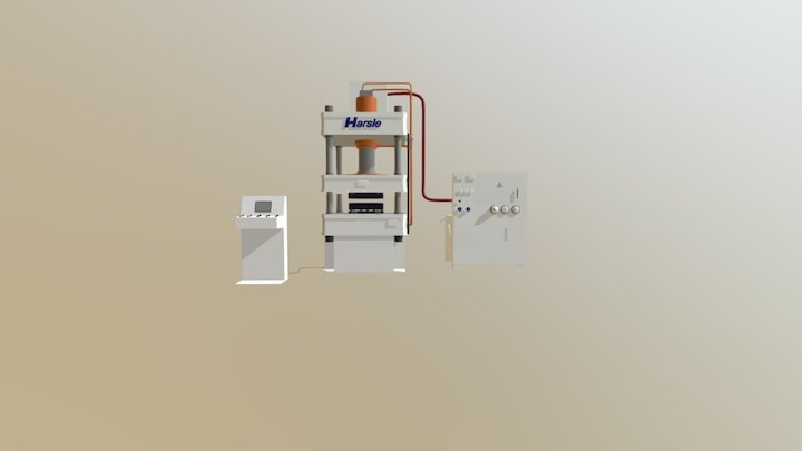 HARSLE Hydraulic Press Machine 3D Model