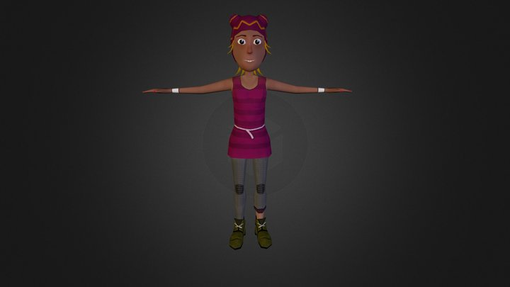 Lola (low poly) 3D Model