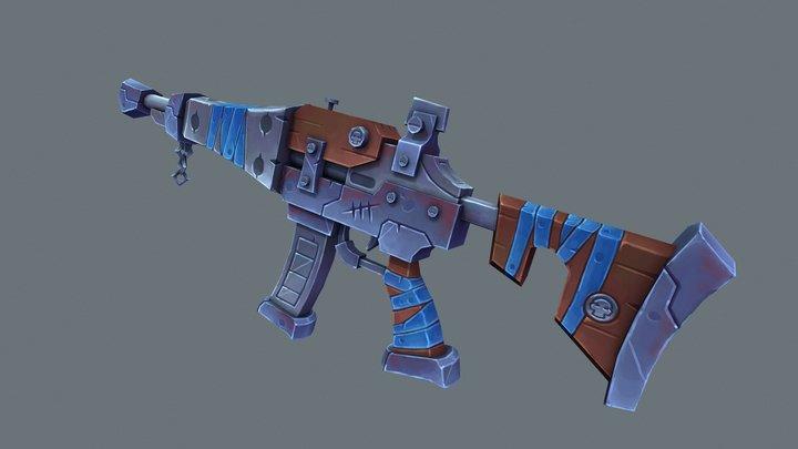 Stylized Assault Rifle 3D Model