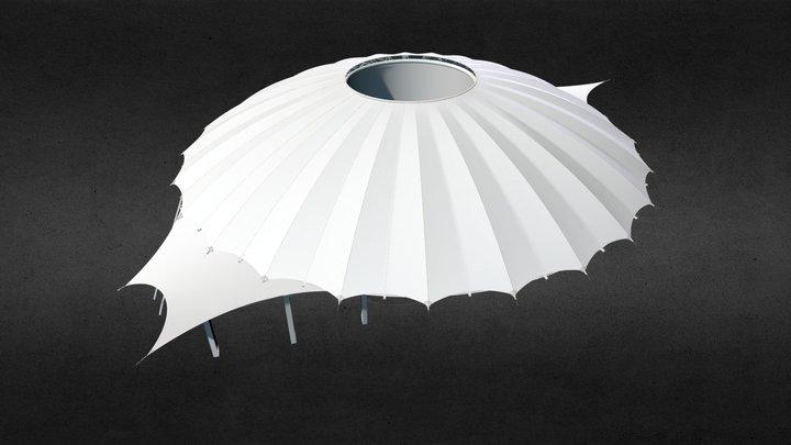 Membrana zadaszająca Amfiteatr w Świnoujściu 3D Model