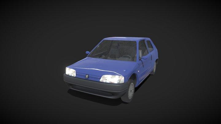 Peugeot 106 1996 Low-poly 3D model 3D Model