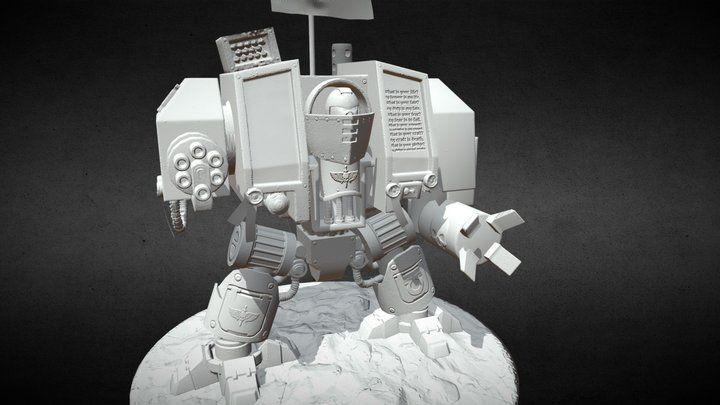 [WIP] WH40k Venerable Dreadnought 3D Model