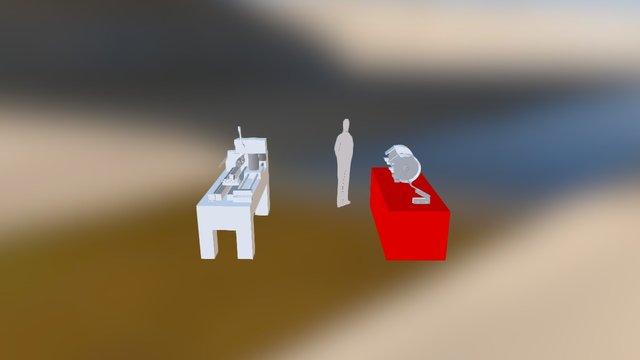 Puesto De Trabajo De un Ornamentador 3D Model