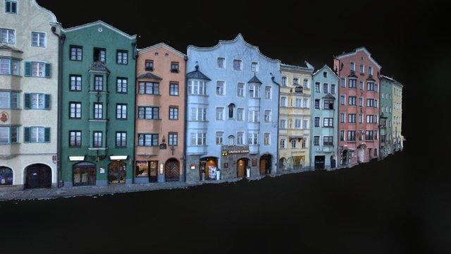 Facade Mariahilf, Innsbruck (terrestrial) 3D Model