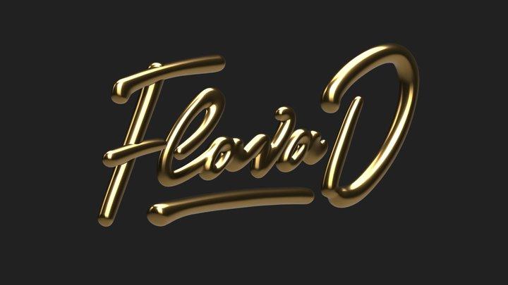 Flava D logotype 3D Model